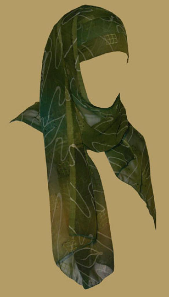 Kuwaiti Style Wrap Hijab hi1179