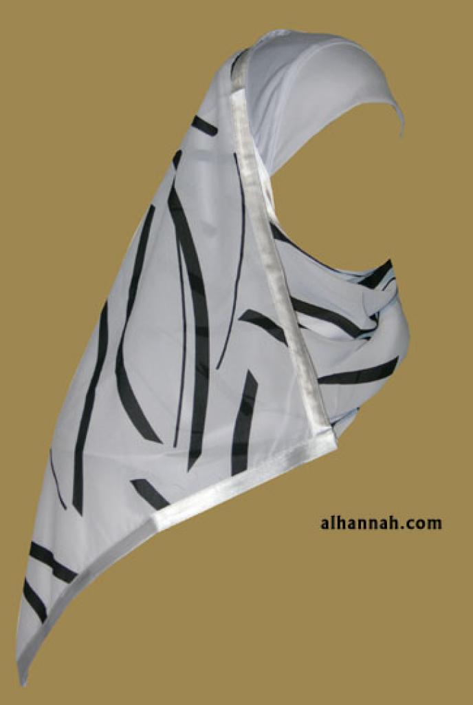 Kuwaiti Style Wrap Hijab hi1180