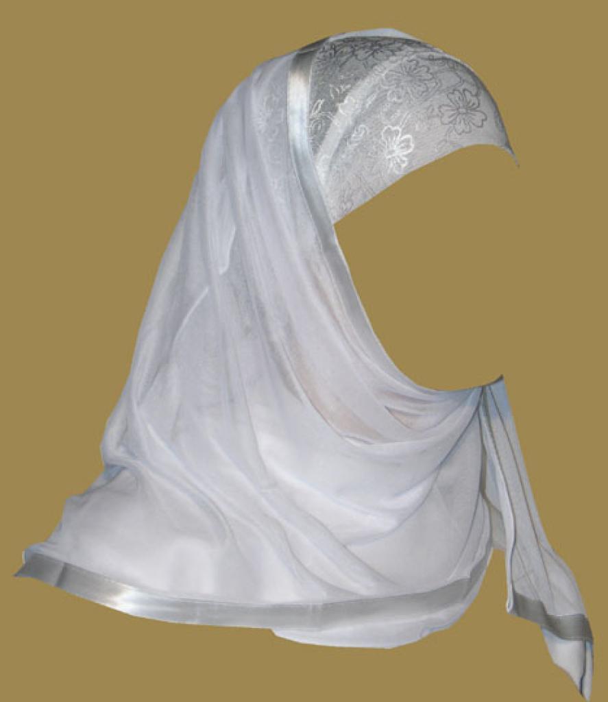 Kuwaiti Style Wrap Hijab hi1181