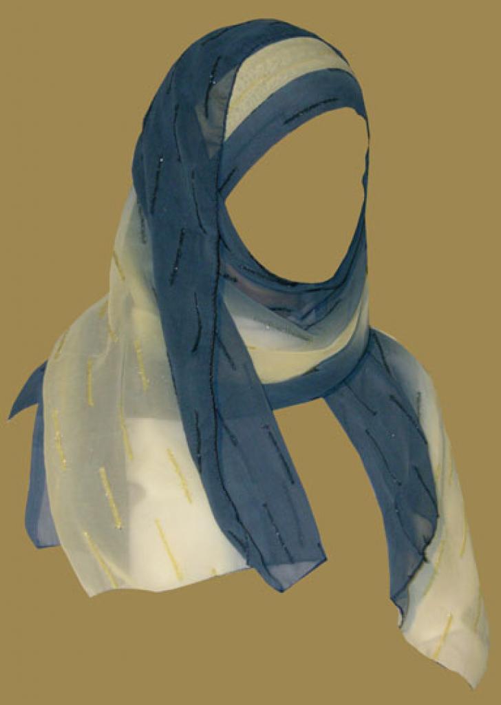 Kuwaiti Style Wrap Hijab hi1182