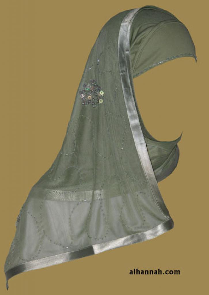 Kuwaiti Style Wrap Hijab hi1183