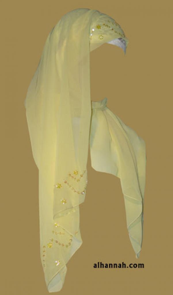 Kuwaiti Style Wrap Hijab hi1187