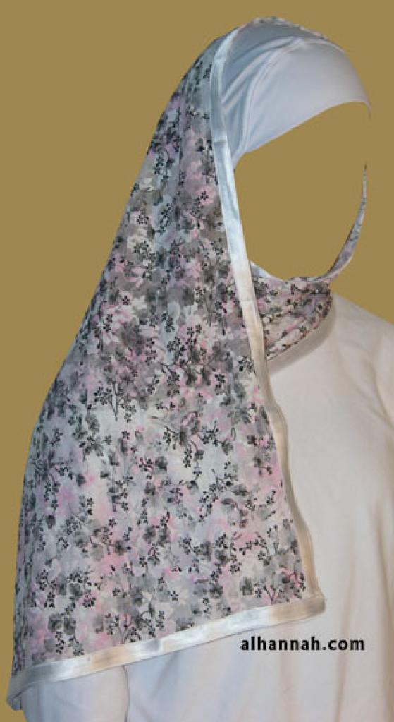 Kuwaiti Style Wrap Hijab hi1189