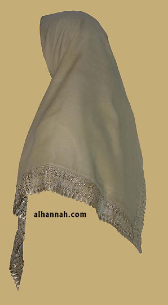 Triangle Lace Hijab hi1194