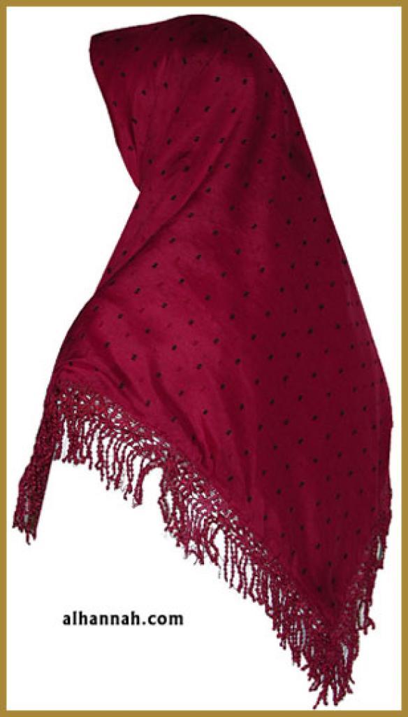 Triangle Lace Hijab hi1195