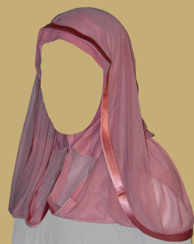 Kuwaiti style twist hijab hi1202