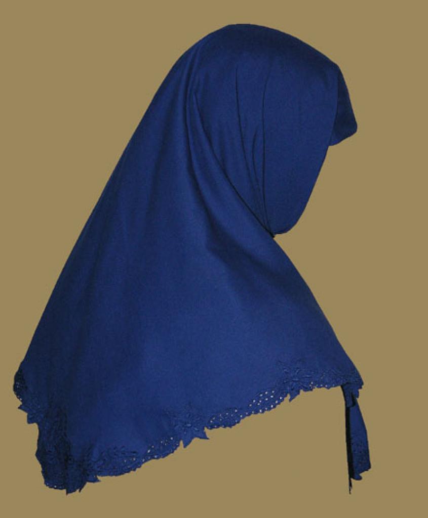 Oversize Printed Acrylic-blend Hijab hi1205