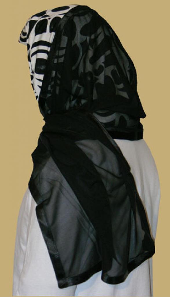 Kuwaiti Style Wrap Hijab hi1206