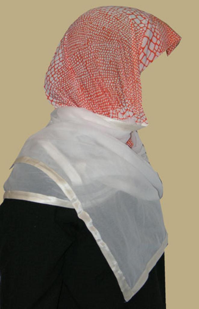 Kuwaiti Style Wrap Hijab hi1207