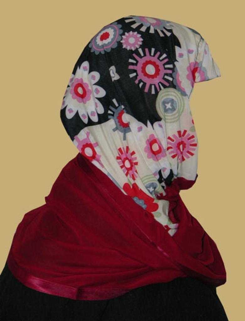 Kuwaiti Style Wrap Hijab hi1210