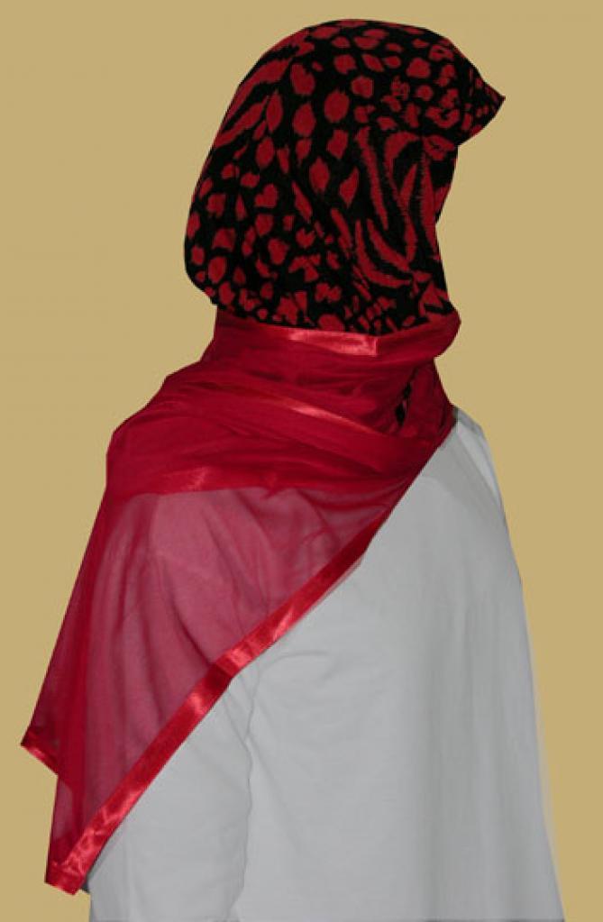 Kuwaiti Style Wrap Hijab hi1211