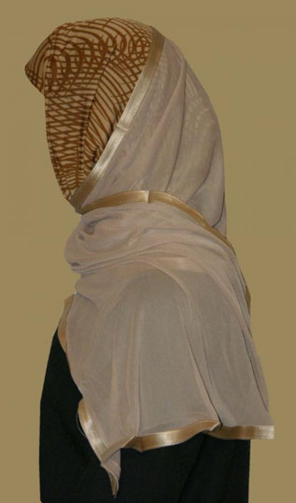 Kuwaiti Style Wrap Hijab hi1212