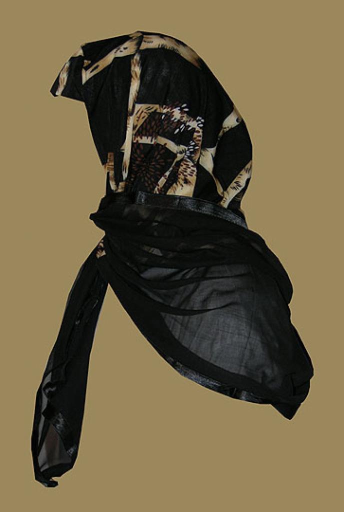 Kuwaiti Style Wrap Hijab hi1213