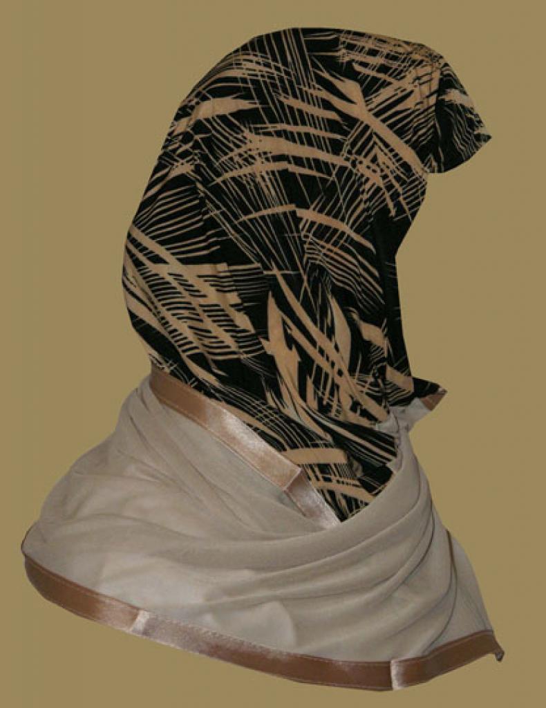 Kuwaiti Style Wrap Hijab hi1215