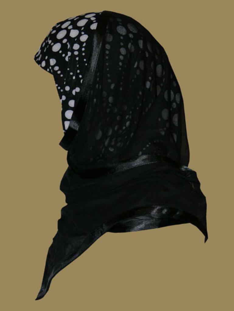 Kuwaiti Style Wrap Hijab hi1219