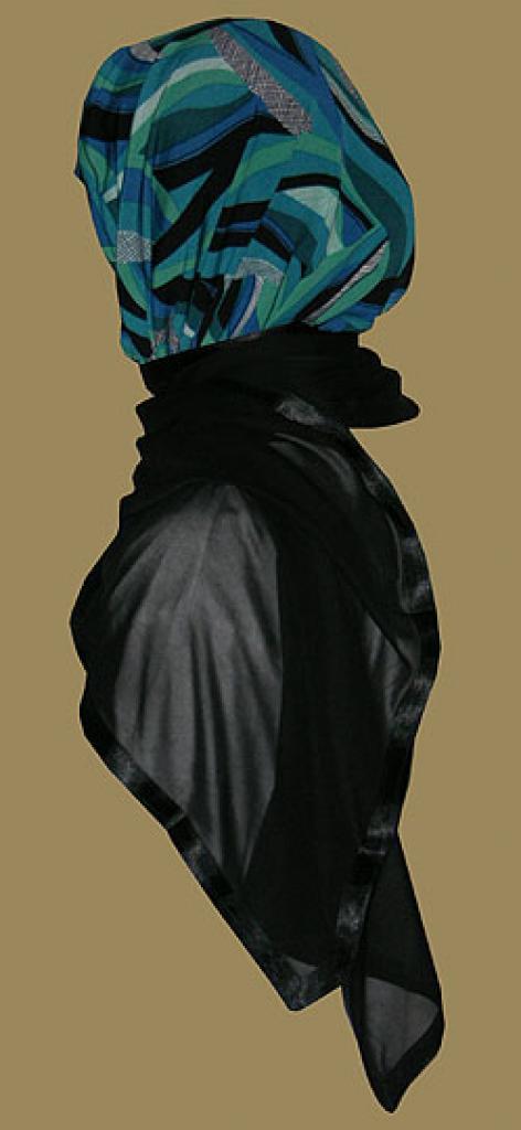 Kuwaiti Style Wrap Hijab hi1220