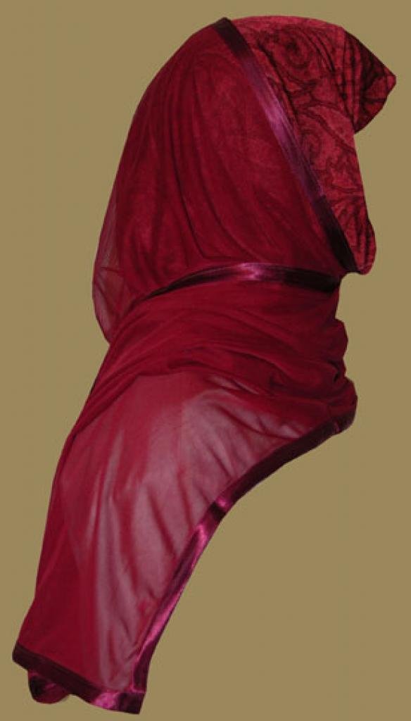 Kuwaiti Style Wrap Hijab hi1222