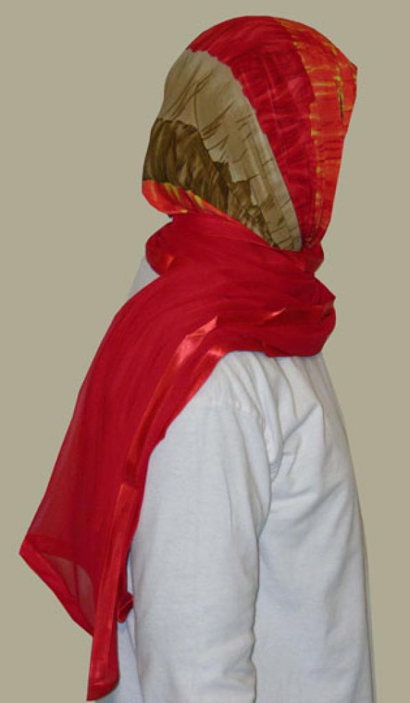 Kuwaiti Style Wrap Hijab hi1238