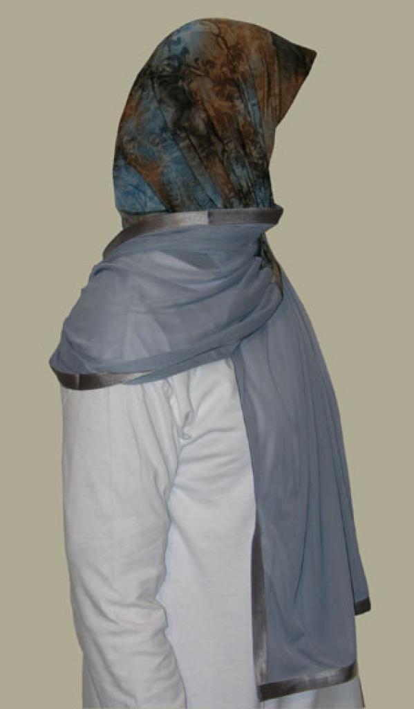 Kuwaiti Style Wrap Hijab hi1239
