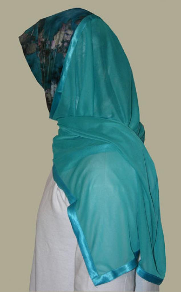 Kuwaiti Style Wrap Hijab hi1240