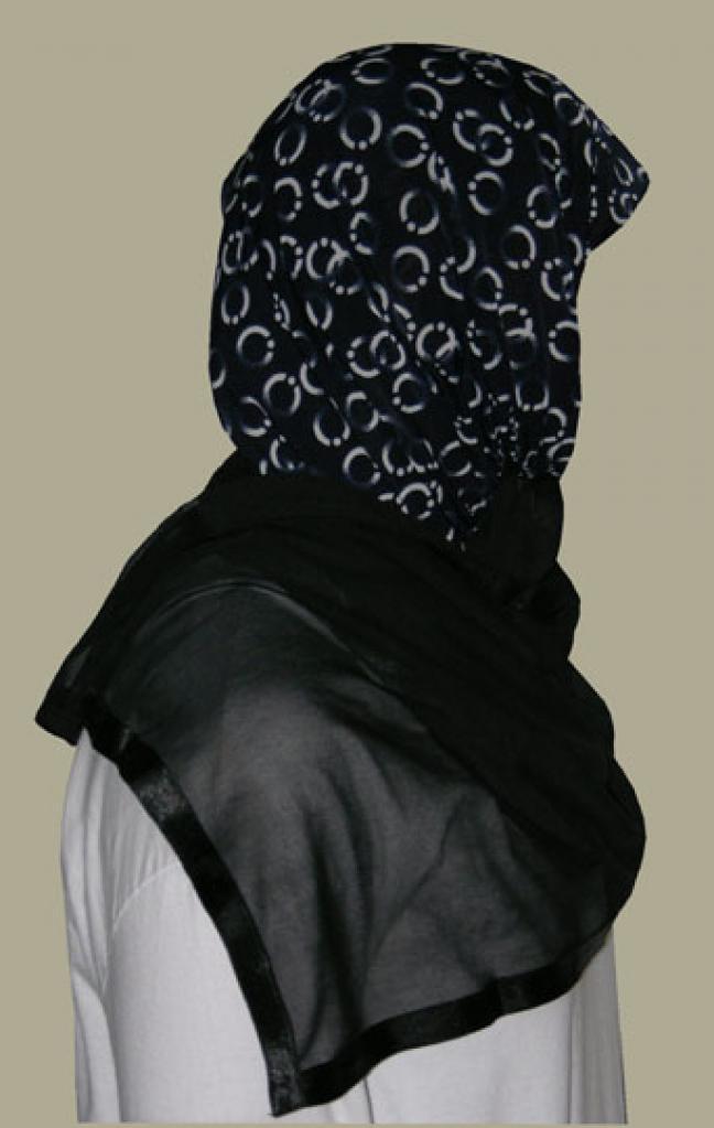 Kuwaiti Style Wrap Hijab hi1241