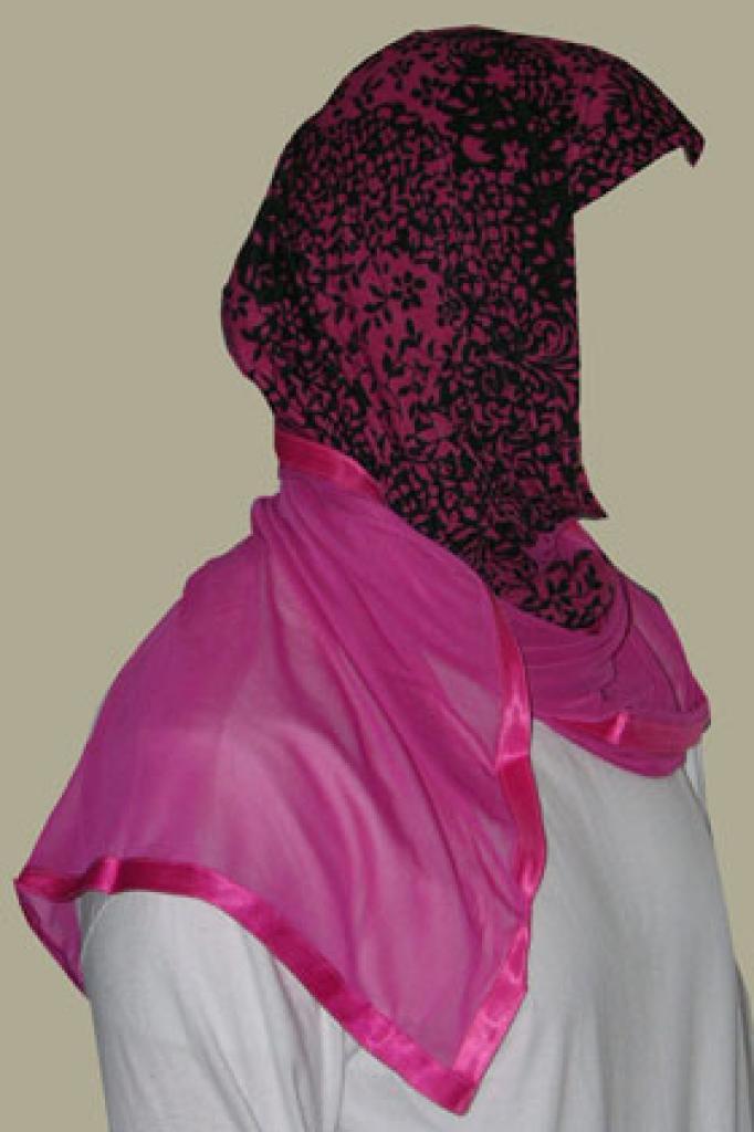 Kuwaiti Style Wrap Hijab hi1242
