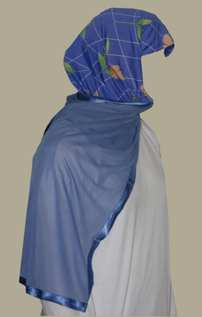Kuwaiti Style Wrap Hijab hi1243