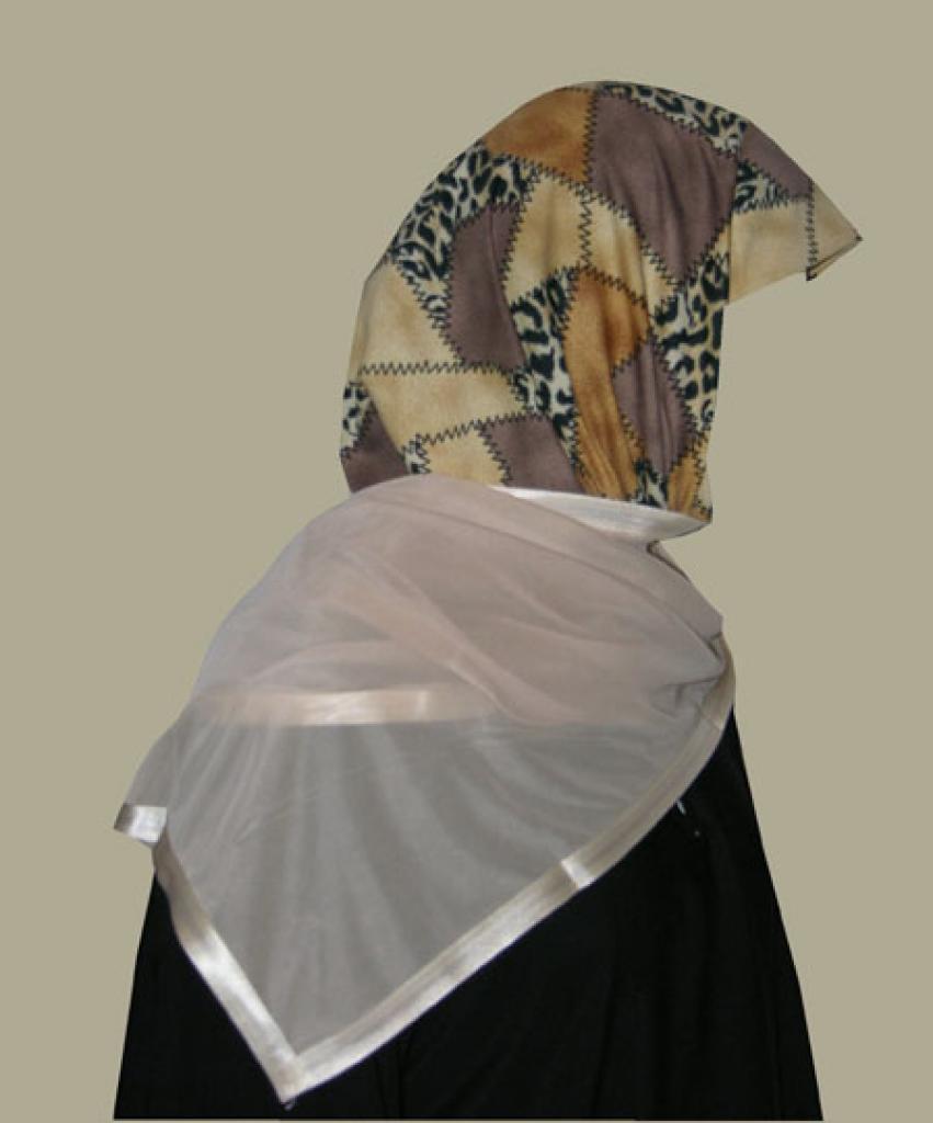 Kuwaiti Style Wrap Hijab hi1245