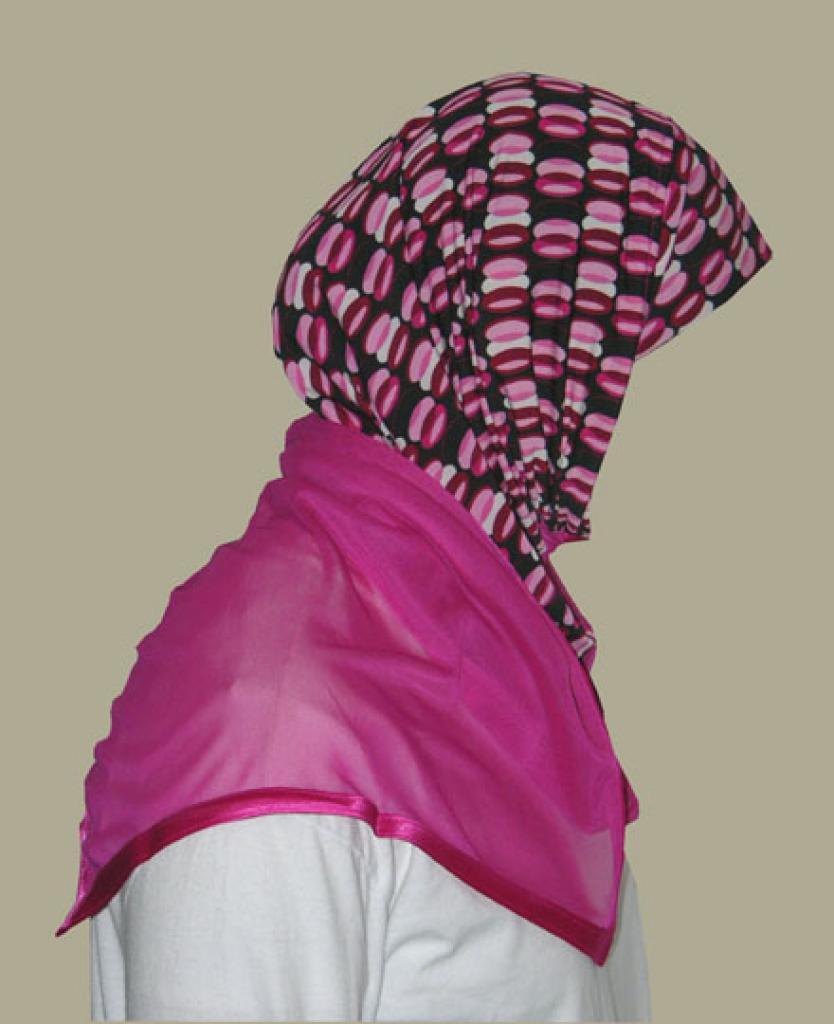 Kuwaiti Style Wrap Hijab hi1246