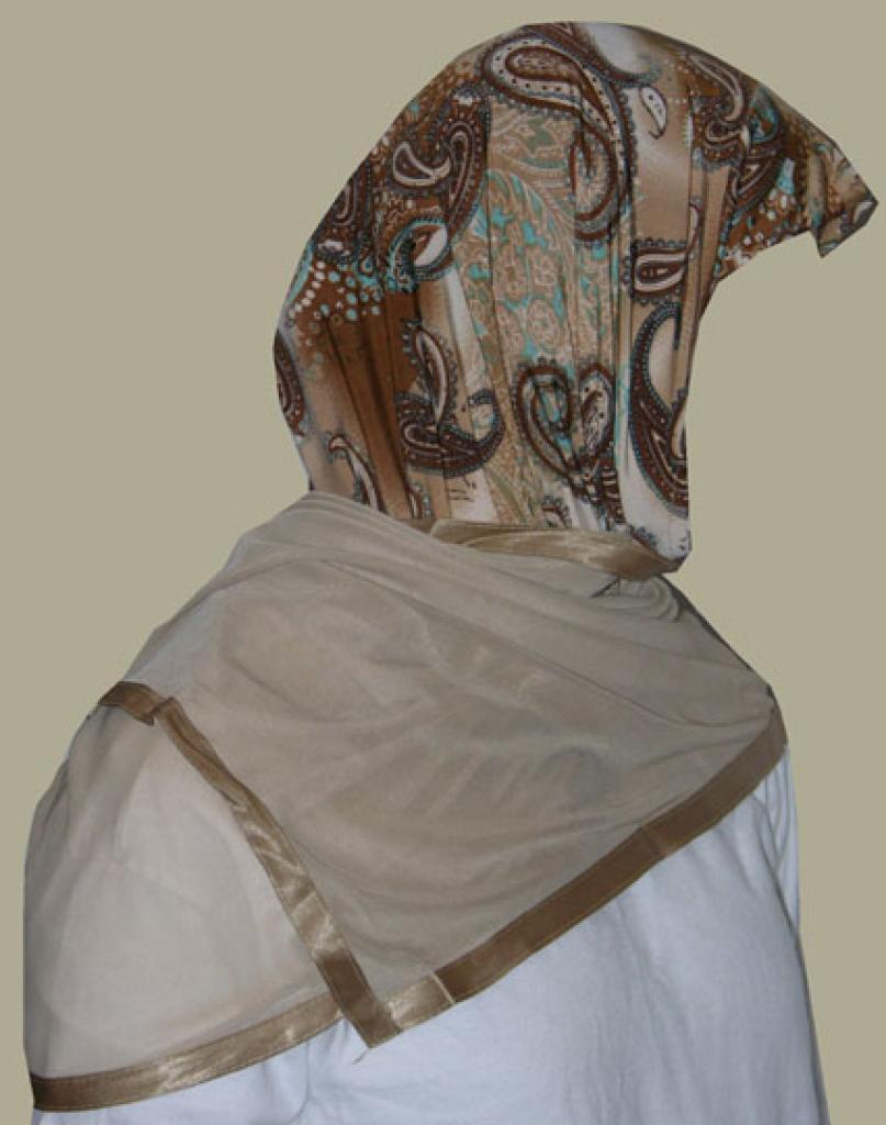 Kuwaiti Style Wrap Hijab hi1248