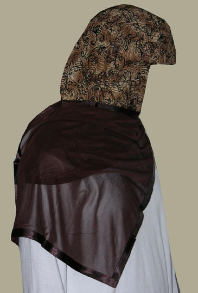 Kuwaiti Style Wrap Hijab hi1249