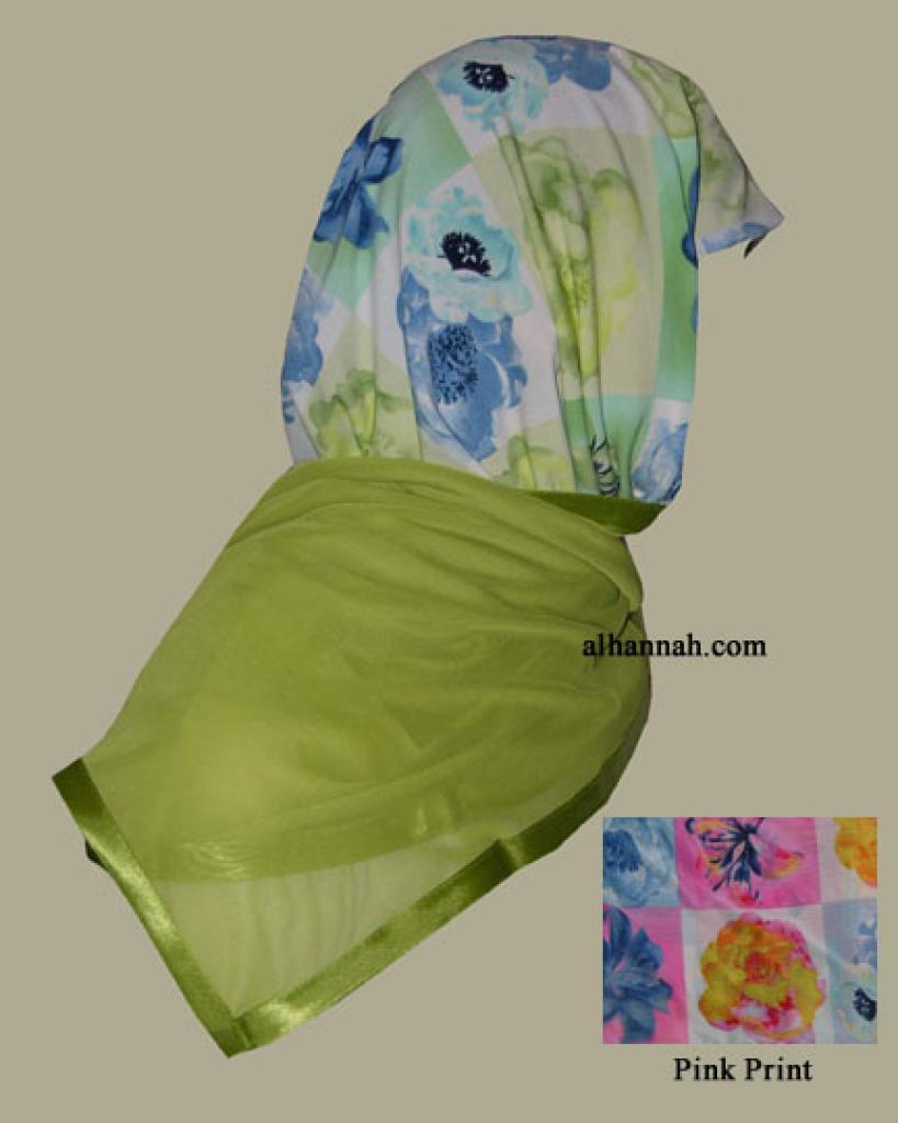 Kuwaiti Style Wrap Hijab hi1253