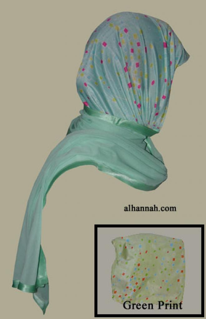 Kuwaiti Style Wrap Hijab hi1254