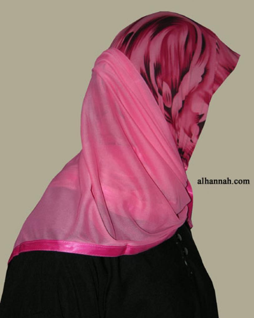Kuwaiti Style Wrap Hijab hi1255