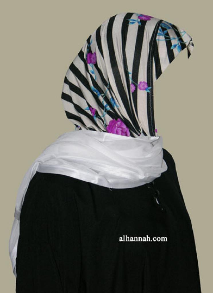 Kuwaiti Style Wrap Hijab hi1257
