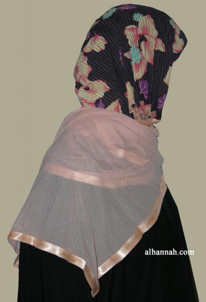 Kuwaiti Style Wrap Hijab hi1258