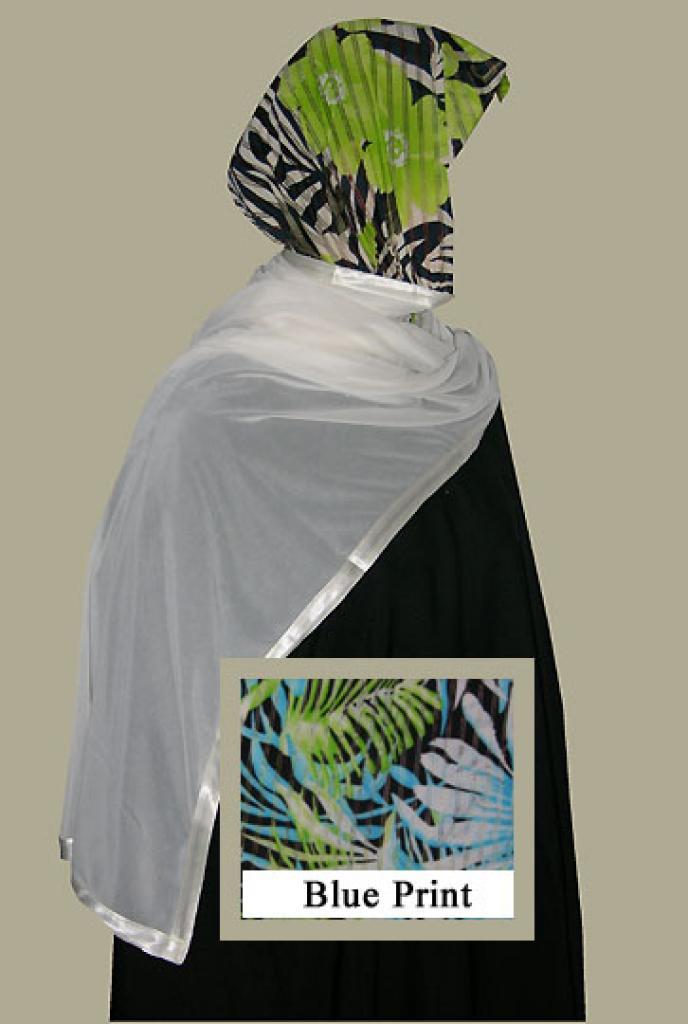 Kuwaiti Style Wrap Hijab hi1260