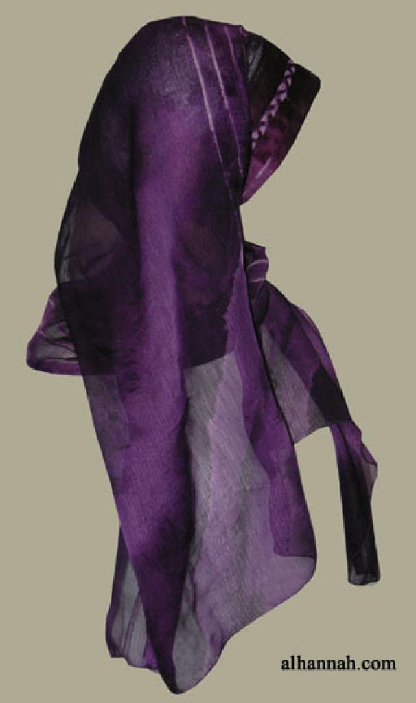 Kuwaiti Style Wrap Hijab hi1261