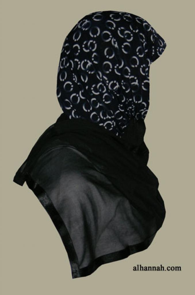 Kuwaiti Style Wrap Hijab hi1264