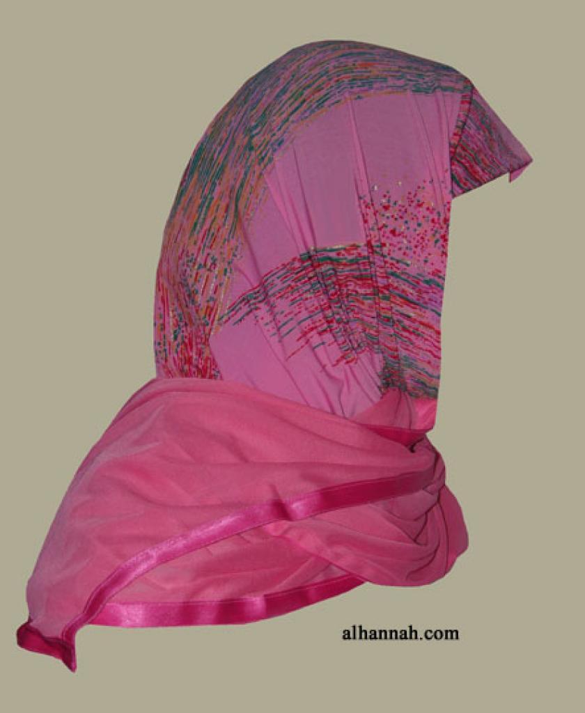 Kuwaiti Style Wrap Hijab hi1265