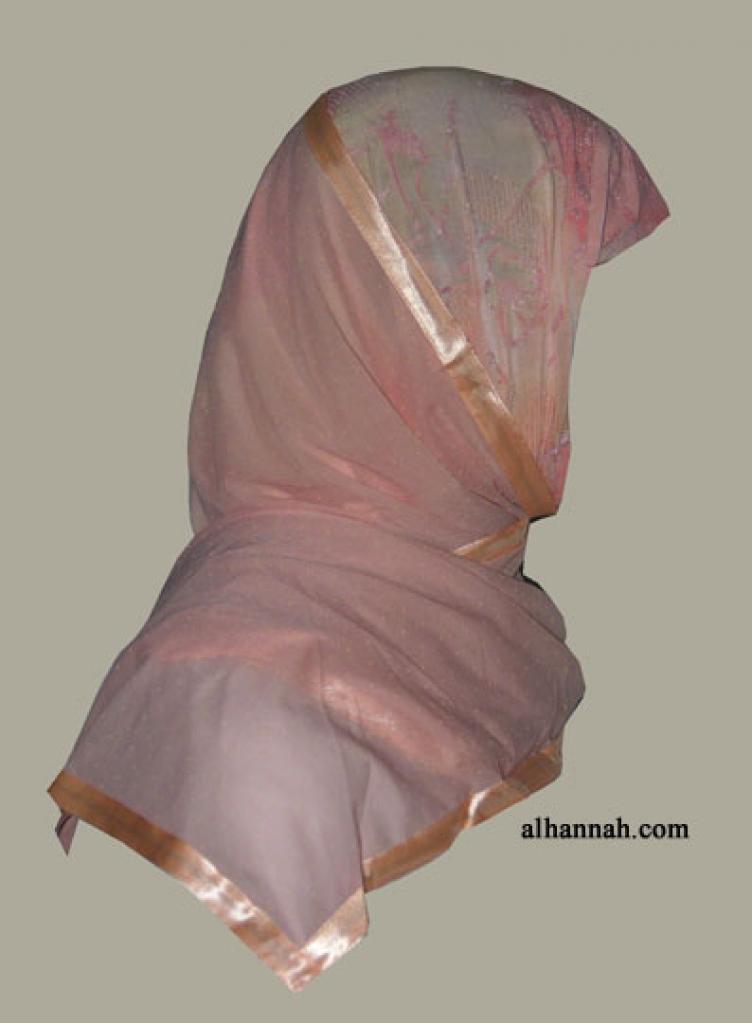 Kuwaiti Style Wrap Hijab hi1266