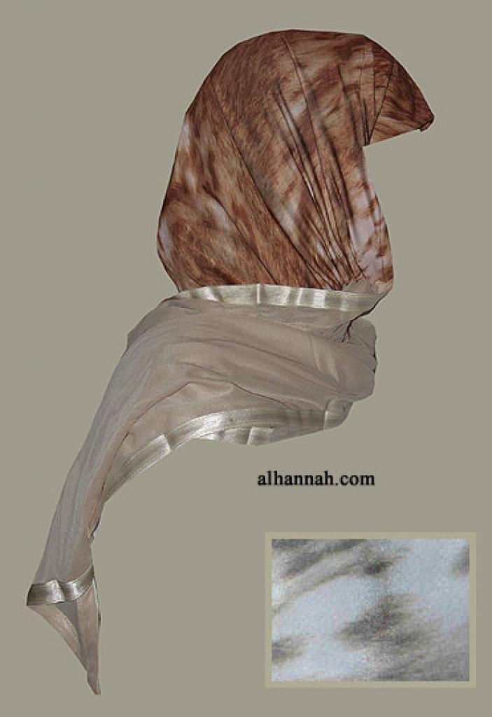 Kuwaiti Style Wrap Hijab hi1267