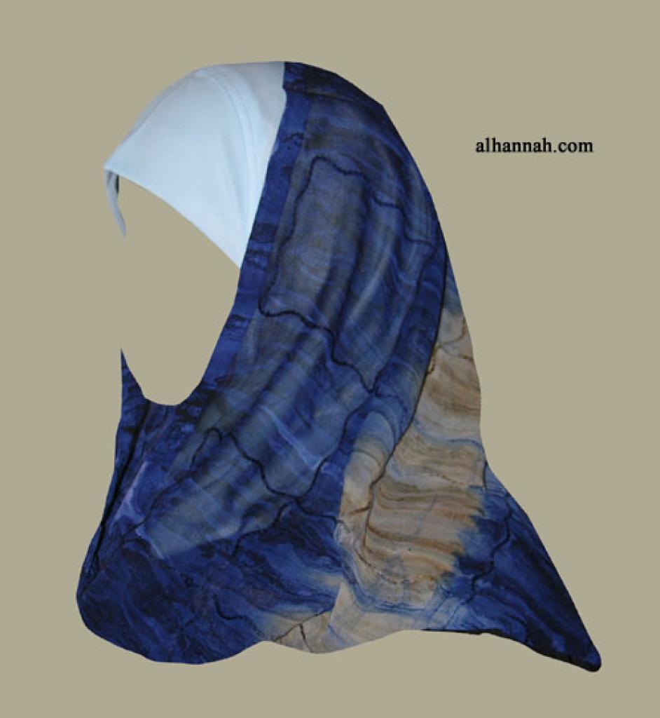 Kuwaiti Style Wrap Hijab hi1270