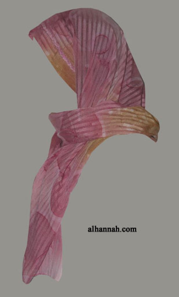 Kuwaiti Style Wrap Hijab hi1276