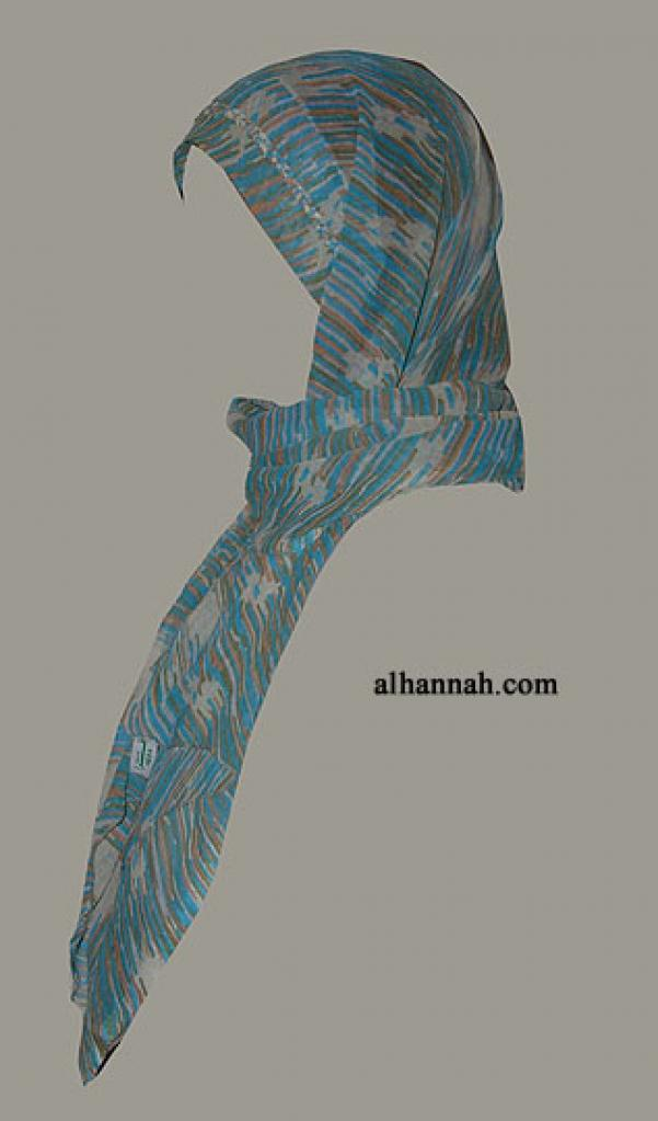 Kuwaiti Style Wrap Hijab hi1282