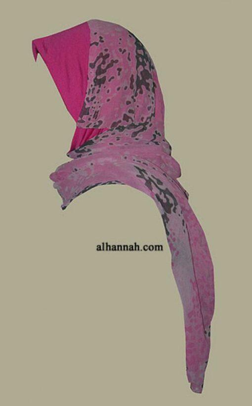 Kuwaiti Style Wrap Hijab hi1286
