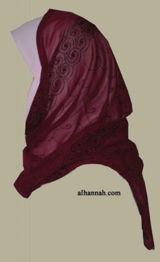 Kuwaiti Style Wrap Hijab hi1288