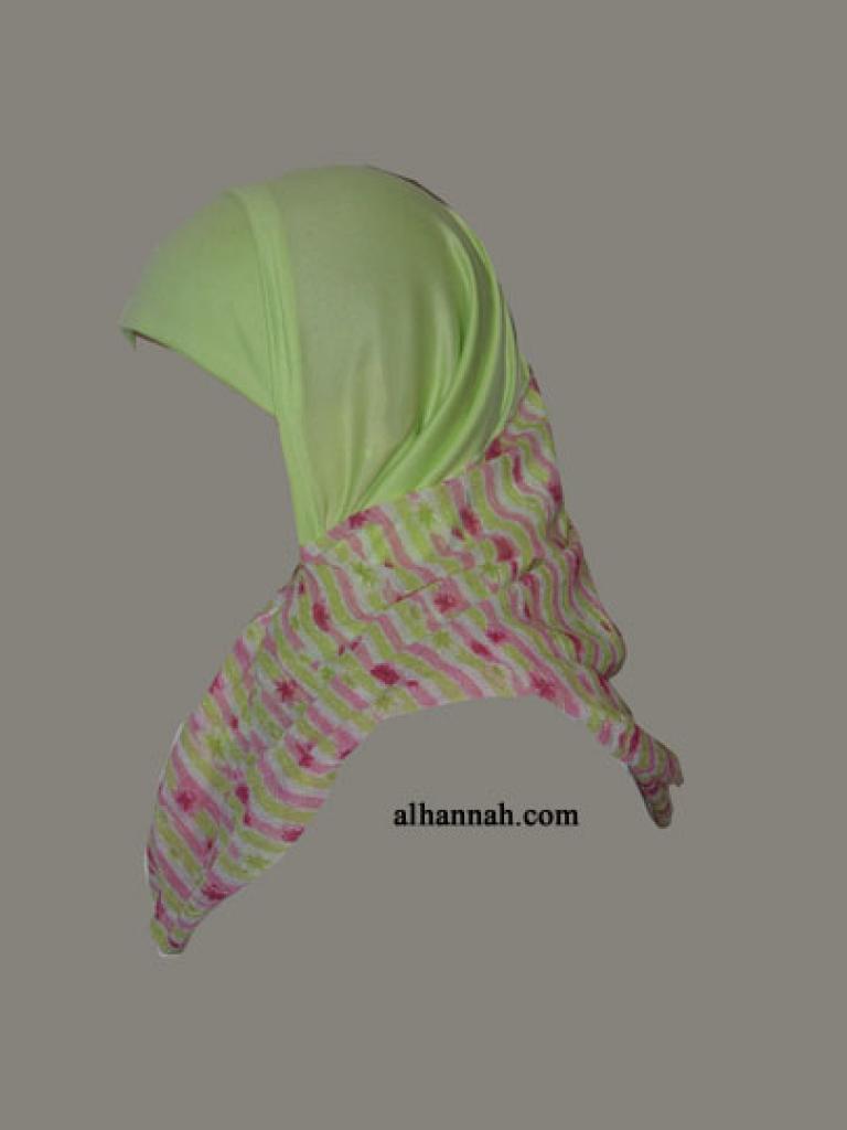 Kuwaiti Style Wrap Hijab hi1292