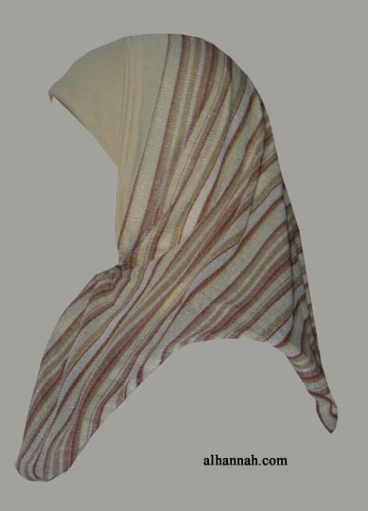 Kuwaiti Style Wrap Hijab hi1293