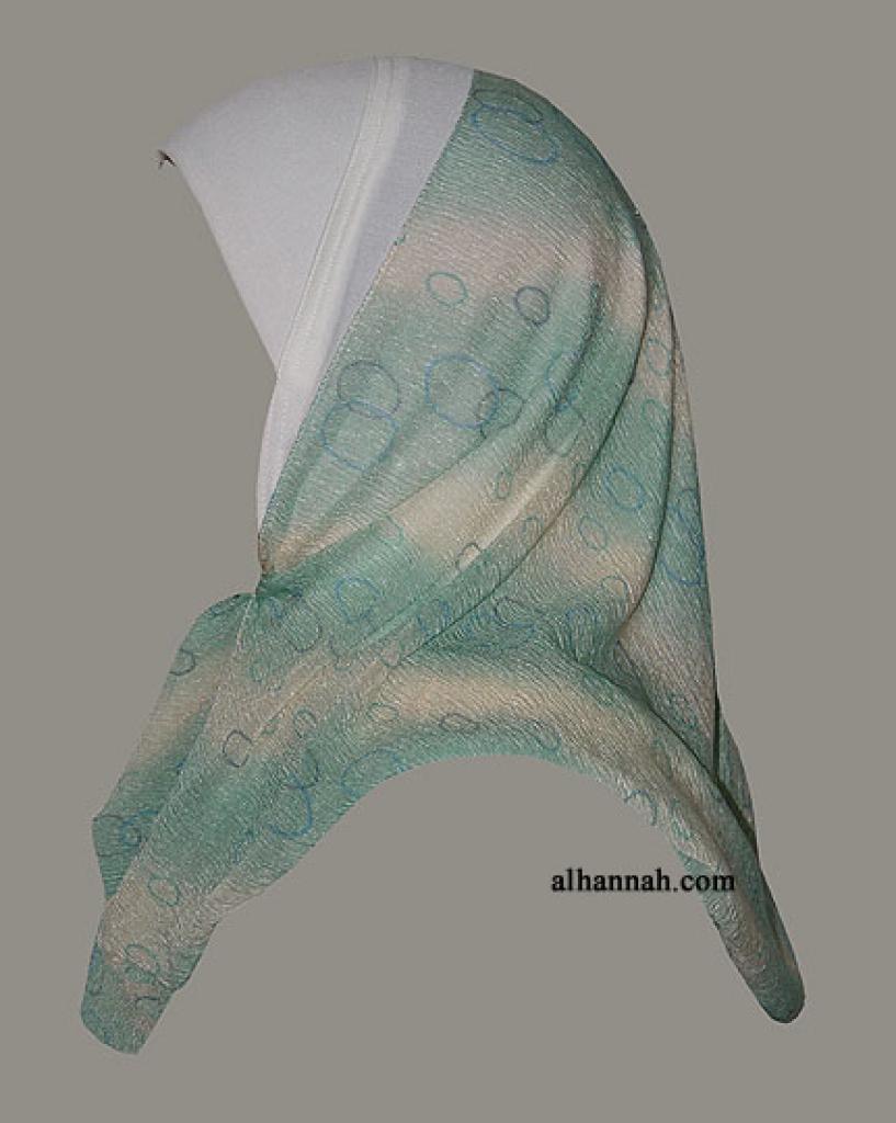 Kuwaiti Style Wrap Hijab hi1296